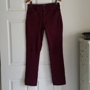 NYDJ 10 Actual 31x31 Burgundy Like New Condition!
